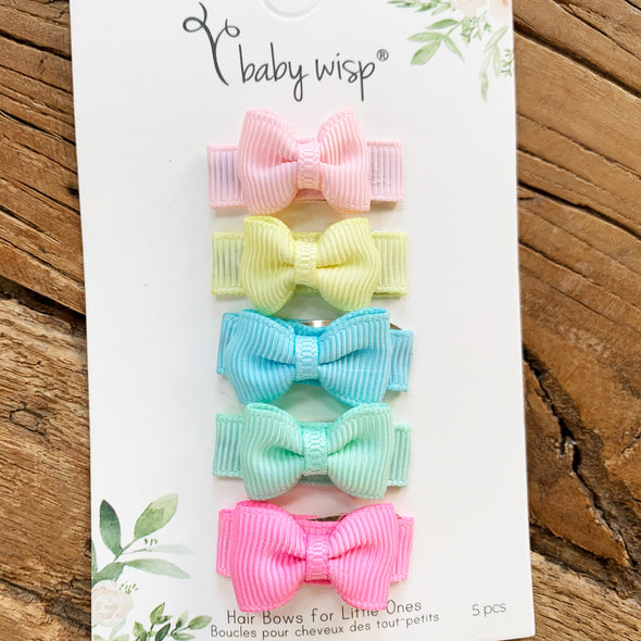 5 Small Snap Mini Tuxedo Bows - Easter Egg - Baby Wisp