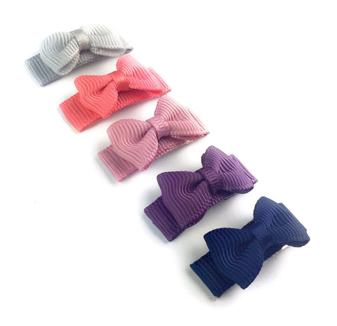 Small Snap Tuxedo Grosgrain Hair Bow Collection -  Fortune Teller - Baby Wisp