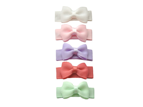 Small Snap Macaroon Grosgrain Hair Bow Collection - Baby Wisp