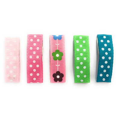 5 Ribbon Clips Spring Snap Clip - Baby Wisp