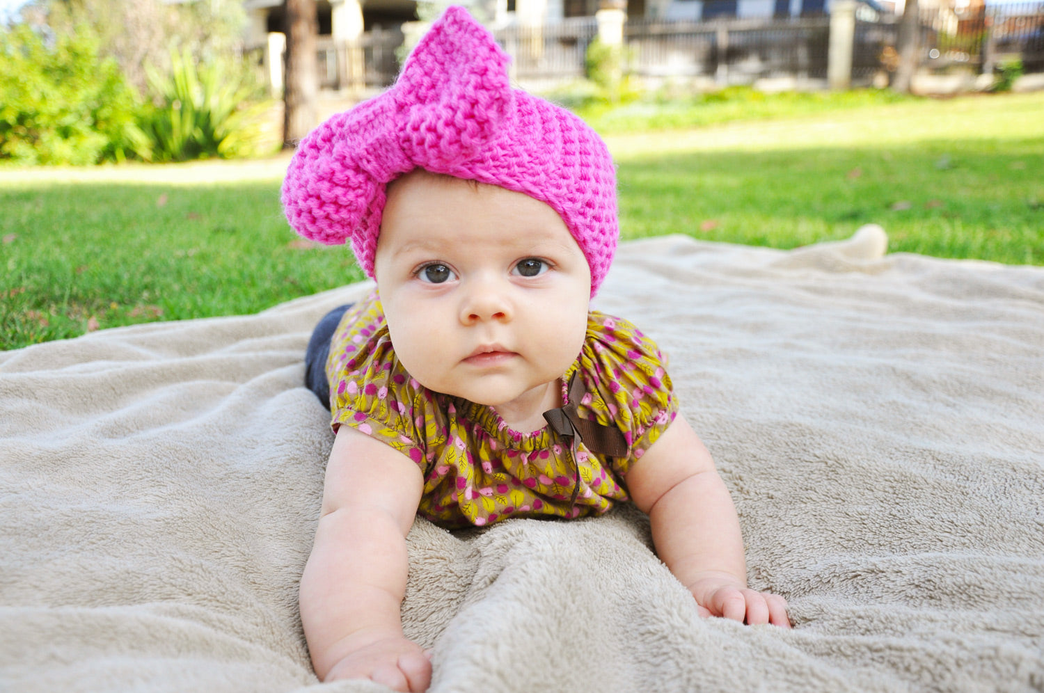 baby knit bow headband