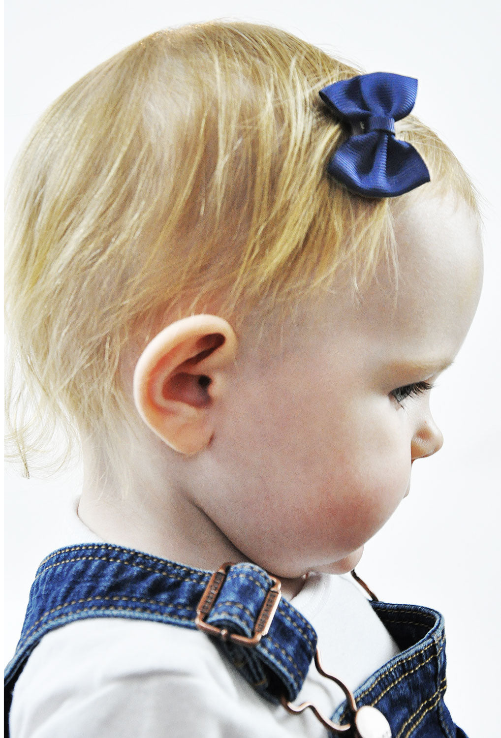 Classic Baby Bow in Navy Blue