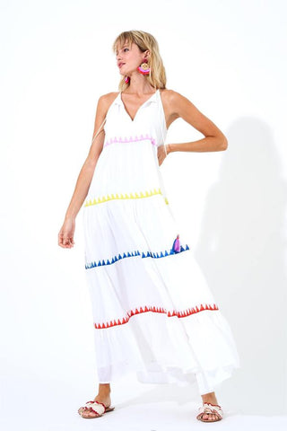LONG TIERED TASSEL DRESS by Oliphant