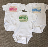 New Jersey Beach Badge Onesie