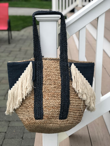 Dutch Denim Jute Tote