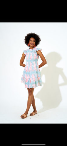 Oliphant Smocked Flirty Dress