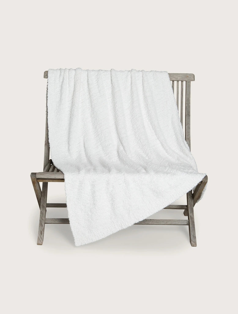 Barefoot Dreams Heathered Cable Blanket