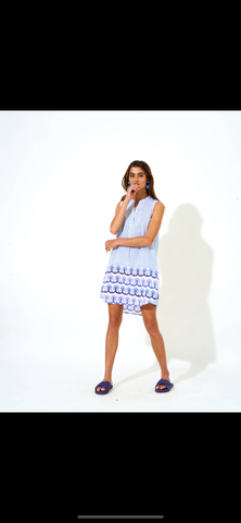 Oliphant Holland Blue Sleeveless Dress