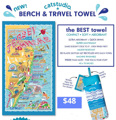 Jersey Shore Beach & Travel Towel