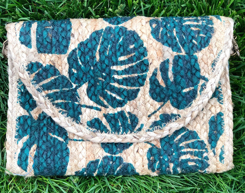 Tropical Leaf Jute Clutch