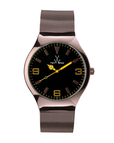 MESH ONLY TIME BLACK DIAL - ToyWatch