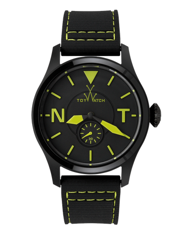 TOY 2 FLY ONLY TIME BLACK DIAL WITH GREEN - ToyWatch