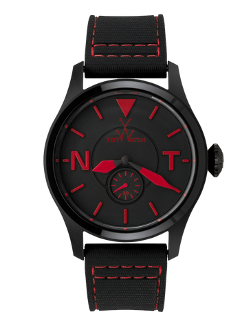 TOY 2 FLY ONLY TIME BLACK DIAL WITH RED - ToyWatch