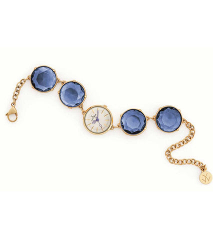 TOY CANDY ONLY TIME BRACELET WITH BLUE STONES - ToyWatch