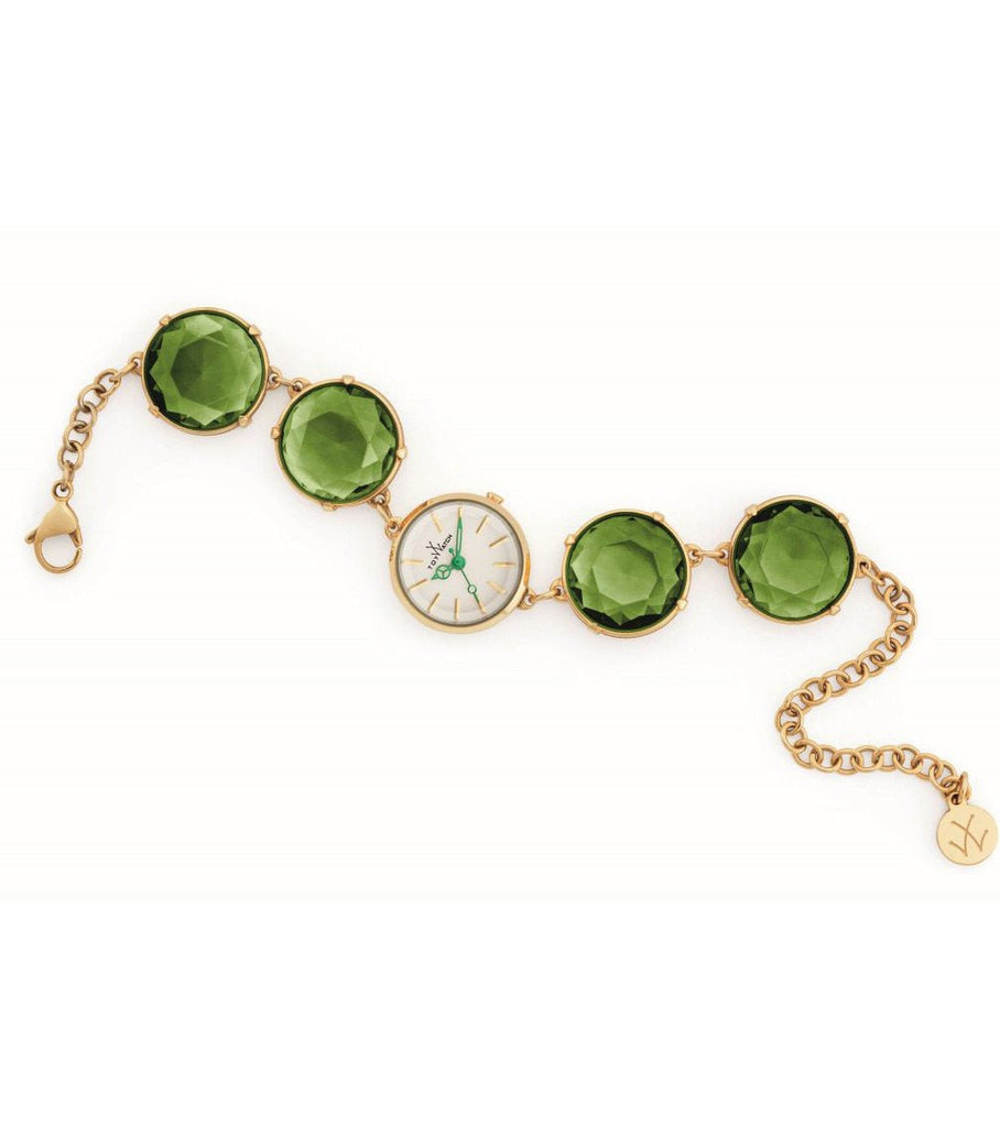 TOY CANDY BRACELET WITH GREEN STONES - ToyWatch