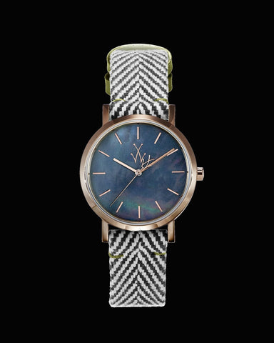 MAYA SMALL BLACK MOTHER OF PEARL - ToyWatch