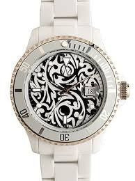 Toy Watch Tribal Collection Yin Yang Tattoo Watch White Silver Dial Ladies - ToyWatch