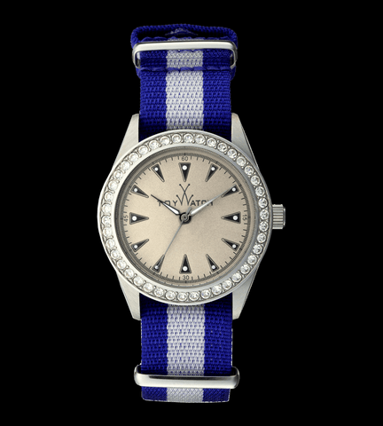 VINTAGE BLUE AND WHITE WITH STONES - ToyWatch