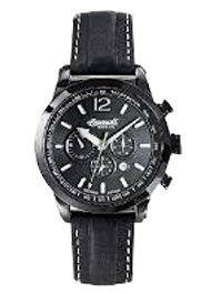 Men's Taos Fine Automatic Timepiece Black Dial Watch