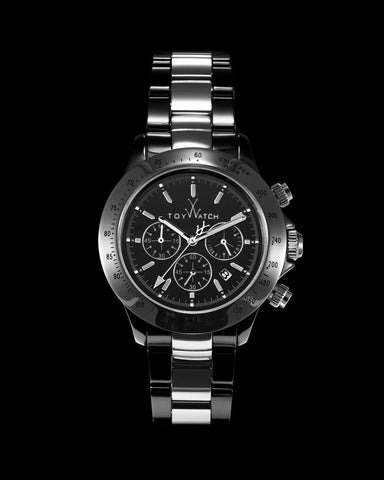 HEAVY METAL CERAMIC BLACK AND SILVER - ToyWatch