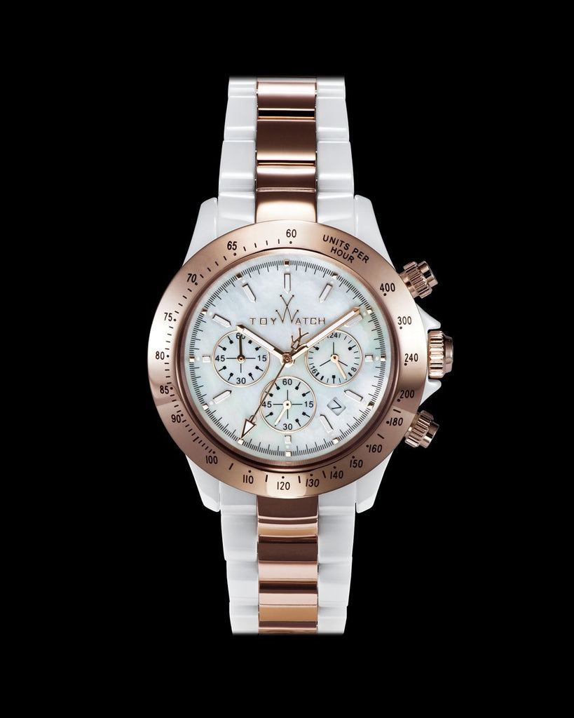 HEAVY METAL CERAMIC WHITE AND PINK GOLD - ToyWatch