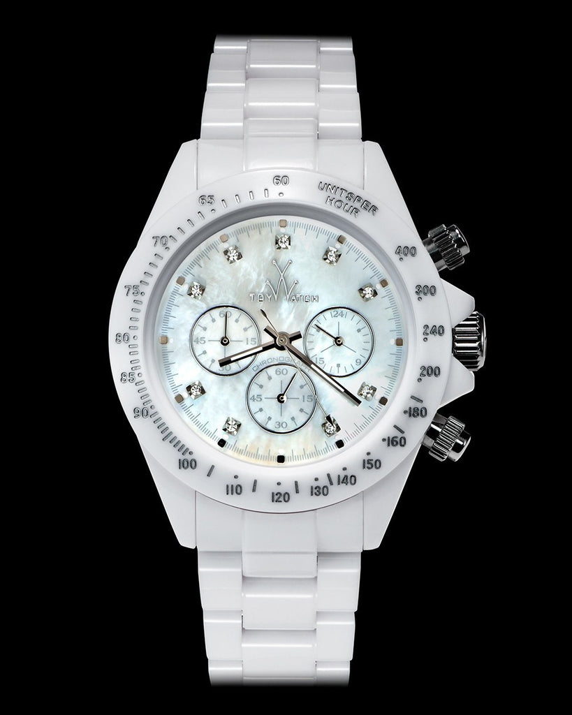 FLUO CHRONO WHITE - ToyWatch