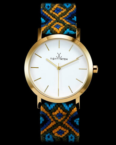 MAYA BLUE AND ORANGE WOVEN - ToyWatch