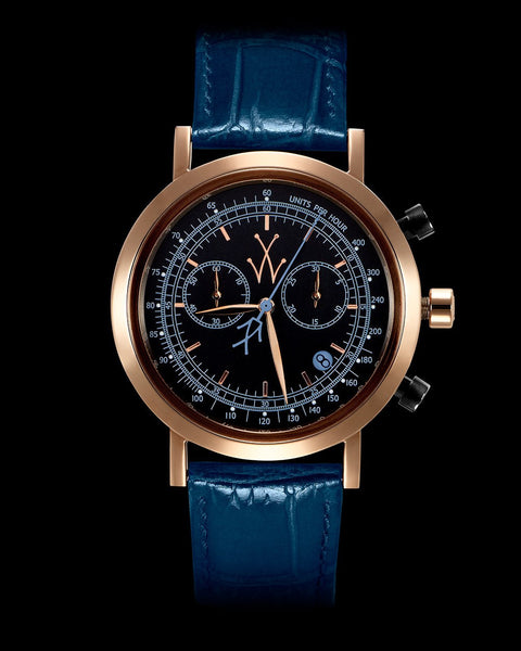 MAYA CHRONO BLACK AND BLUE - ToyWatch