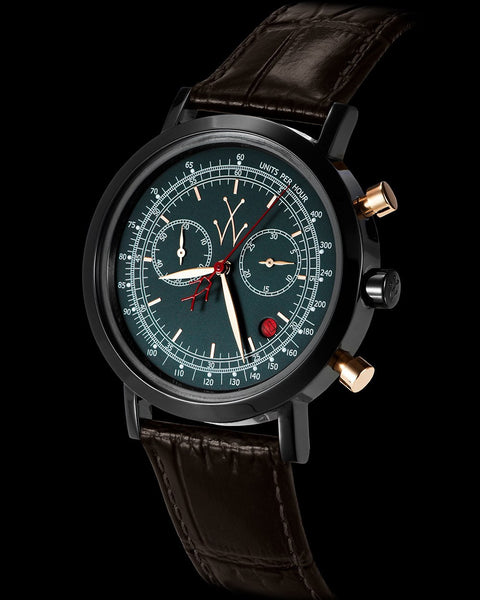 MAYA CHRONOGRAPH GUN METAL AND RED