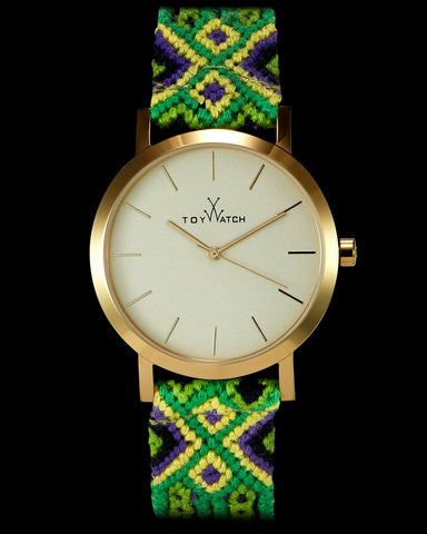 MAYA BLUE AND GREEN WOVEN - ToyWatch