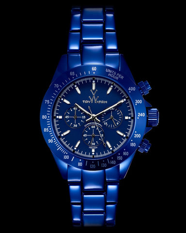 METALLIC CHRONO BLUE - ToyWatch