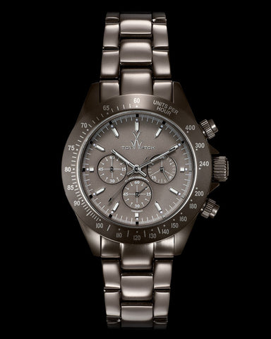 METALLIC CHRONO PEWTER - ToyWatch