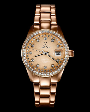 METALLIC STONES PINK GOLD - ToyWatch