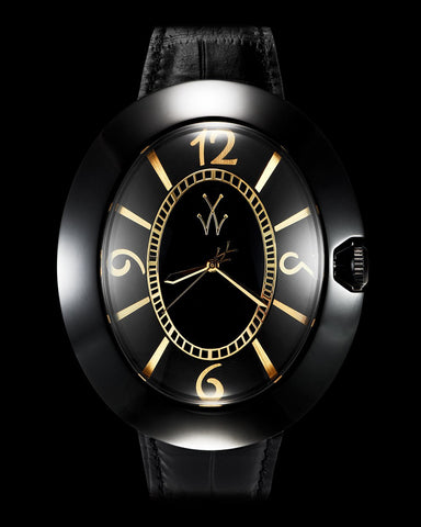 MONNALISA BLACK AND YELLOW GOLD - ToyWatch