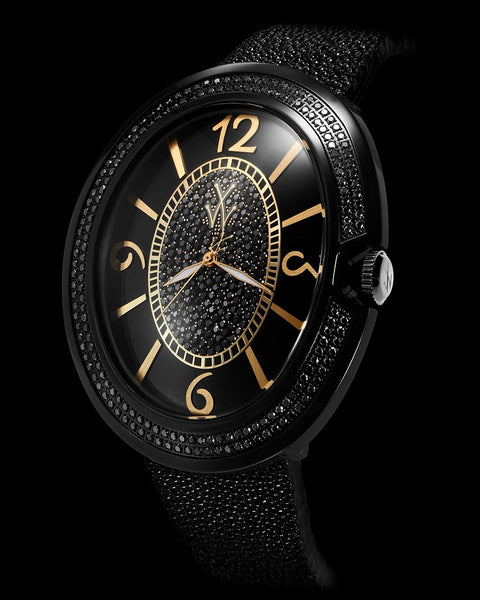 MONNALISA BLACK DIAL AND YELLOW GOLD WITH DIAMONDS