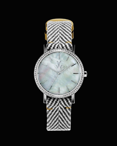 MAYA SMALL WHITE MOTHER OF PEARL - ToyWatch