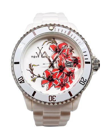 Toy Watch Tattoo Watch Collection White - Cluster of Flowers
