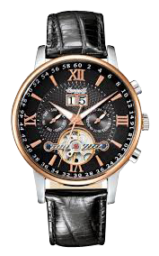 Men's Automatic Grand Canyon IV Rose-Gold Watch with Black Band