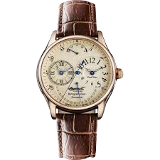 Men's Ragtime Analog Display Automatic Self Wind Brown Watch