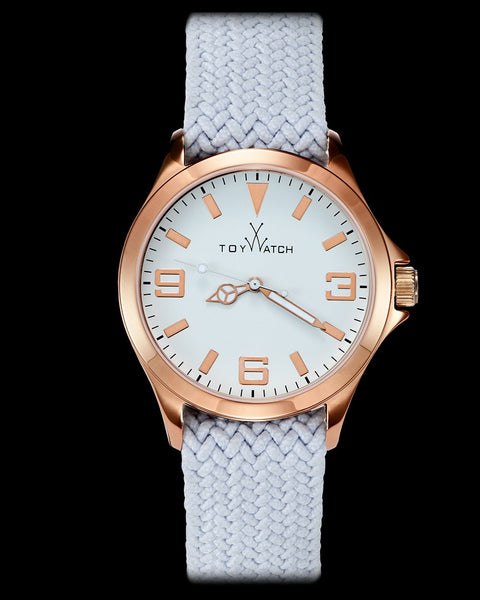 TOYCRUISE METAL WHITE AND PINK GOLD - ToyWatch