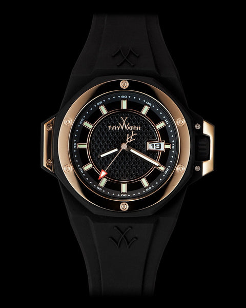 TOYSTRONG BLACK AND ROSE GOLD - ToyWatch
