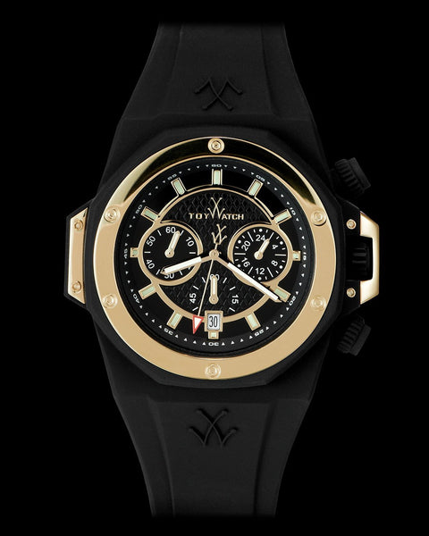 TOYSTRONG CHRONO BLACK AND GOLD - ToyWatch