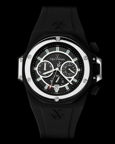 TOYSTRONG CHRONO BLACK AND SILVER - ToyWatch