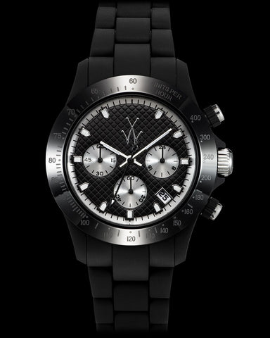 VELVETY CHRONO BLACK AND SILVER - ToyWatch