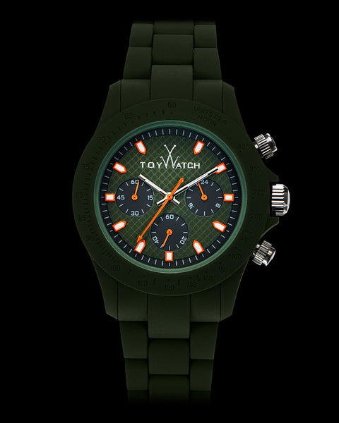 VELVETY CHRONO GREEN - ToyWatch