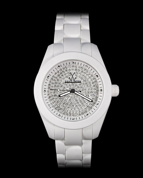 VELVETY WHITE FULL PAVE - ToyWatch
