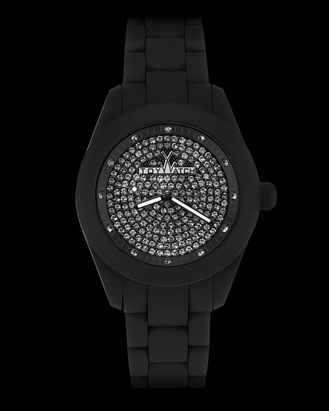VELVETY BLACK FULL PAVE - ToyWatch