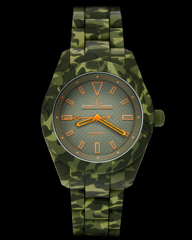 VELVETY CAMOUFLAGE GREEN - ToyWatch
