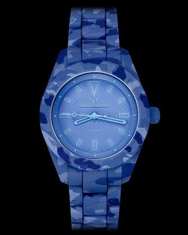 VELVETY CAMOUFLAGE BLUE - ToyWatch