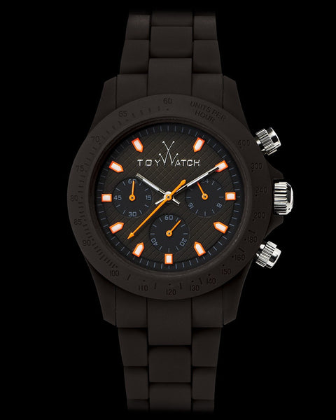 VELVETY CHRONO BROWN - ToyWatch